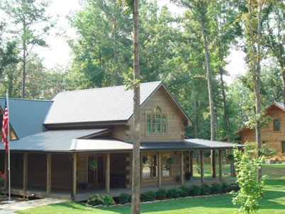 Forest Green Metal Roofing